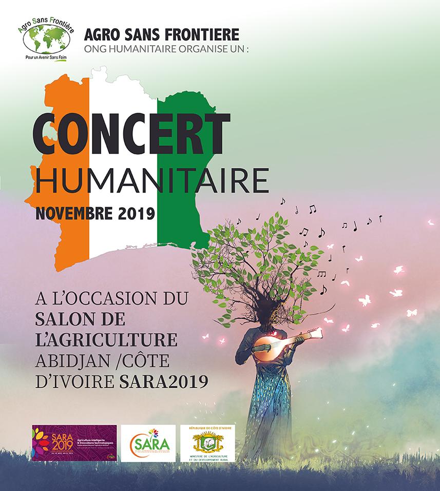 CONCERT HUMANITAIRE AU SALON DE L'AGRICULTURE - ABIDJAN - SARA 2019